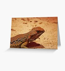 Horny Lizard Greeting Card