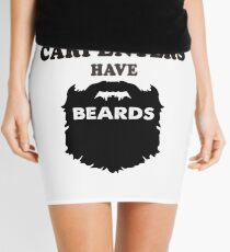 carpenter with beards, Carpentry bearded wood gift tshirts Mini Skirt
