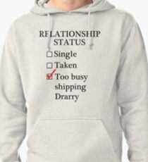 Relationship Status - Too Busy Shipping Drarry Pullover Hoodie