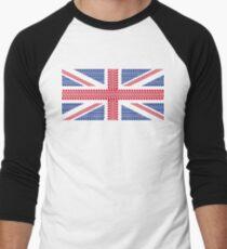 Tire track Union Jack British Flag Men's Baseball ¾ T-Shirt