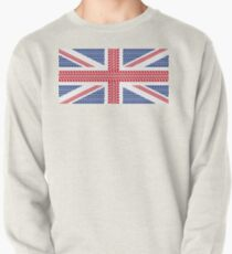 Tire track Union Jack British Flag Pullover
