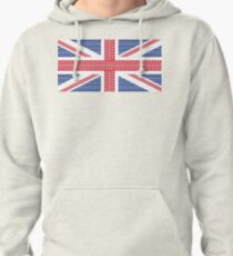 Tire track Union Jack British Flag Pullover Hoodie