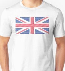 Tire track Union Jack British Flag Unisex T-Shirt