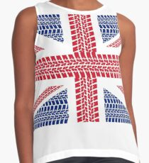 Tire track Union Jack British Flag Contrast Tank
