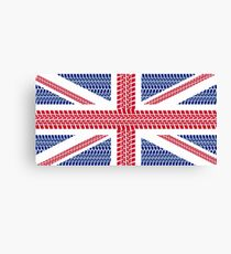 Tire track Union Jack British Flag Canvas Print