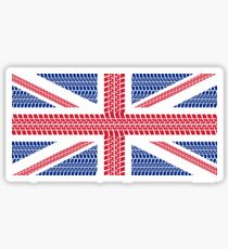 Tire track Union Jack British Flag Sticker