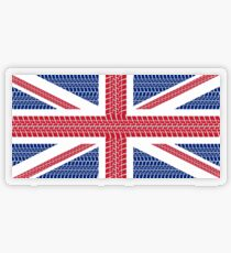 Tire track Union Jack British Flag Transparent Sticker
