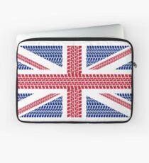 Tire track Union Jack British Flag Laptop Sleeve
