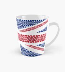Tire track Union Jack British Flag Tall Mug