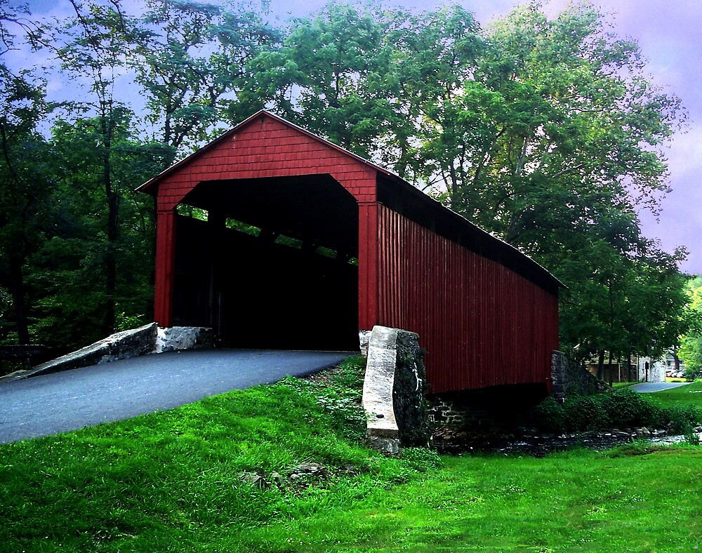 Covered Bridge in Amish Country by Judi Taylor