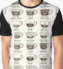 Coffee type recipe seamless pattern Graphic T-Shirt
