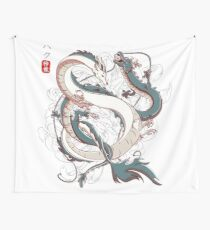 Japanese Dragons Wall Tapestry