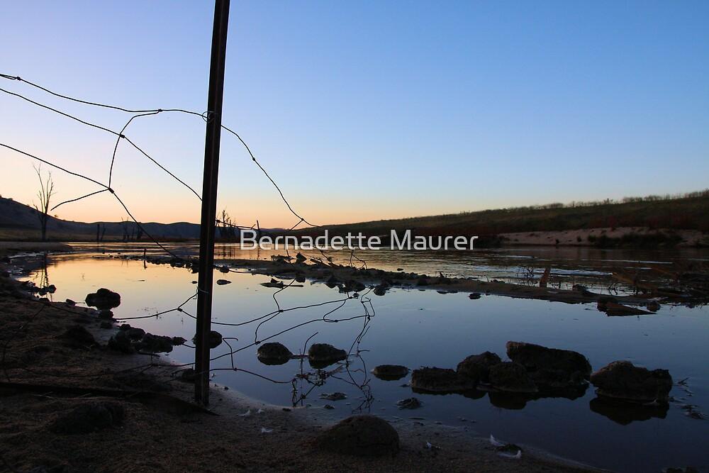 Murrumbidgee sunset by Bernadette Maurer