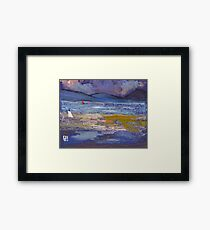 Woman on a beach Framed Print