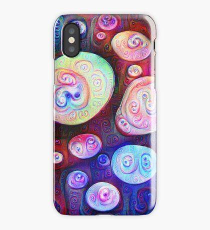 #DeepDream bubbles on frozen lake 5x5K v1450615886 iPhone Case