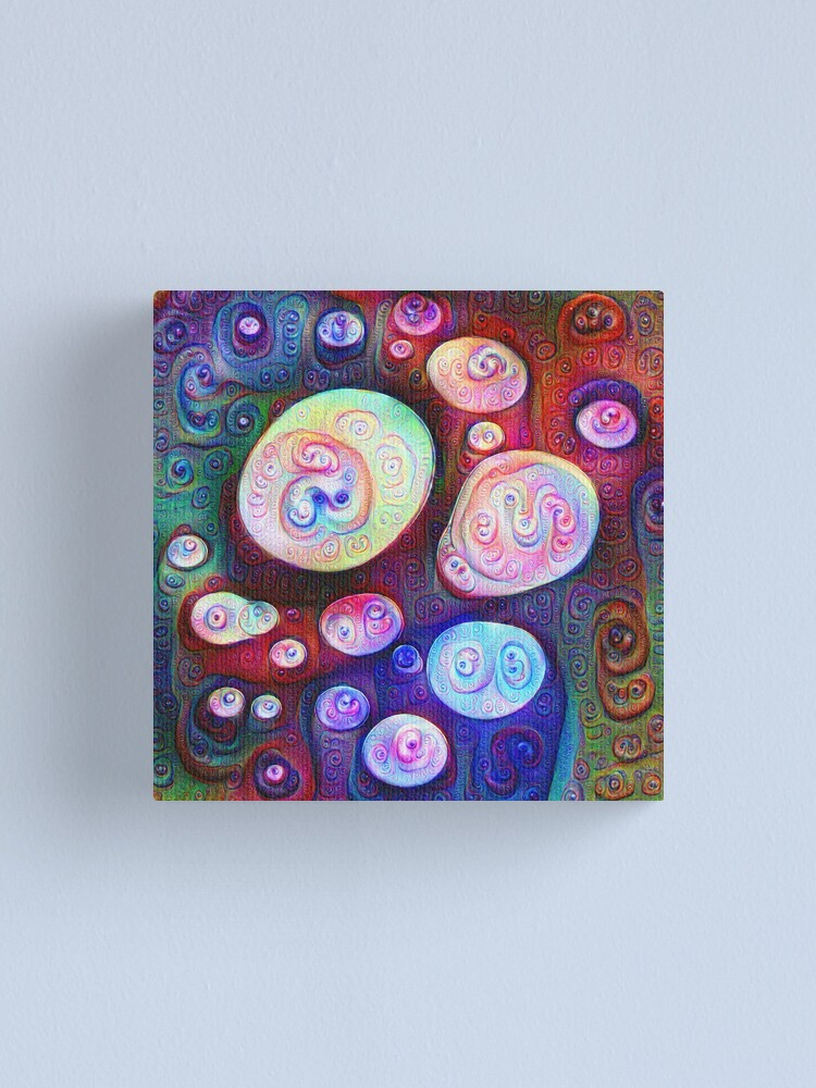 Alternate view of #DeepDream bubbles on frozen lake 5x5K v1450615886 Canvas Print