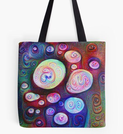 #DeepDream bubbles on frozen lake 5x5K v1450615886 Tote Bag