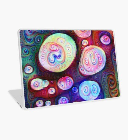 #DeepDream bubbles on frozen lake 5x5K v1450615886 Laptop Skin