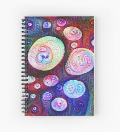 #DeepDream bubbles on frozen lake 5x5K v1450615886 Spiral Notebook
