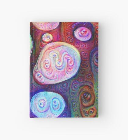 #DeepDream bubbles on frozen lake 5x5K v1450615886 Hardcover Journal