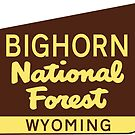BIGHORN NATIONAL FOREST WYOMING CAMPING HIKING CLIMBING by MyHandmadeSigns