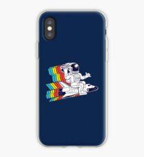 funky astronaut iPhone Case