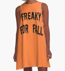 Freaky For Fall A-Line Dress