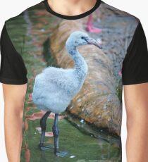 American Flamingo Chick Graphic T-Shirt