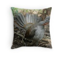superb lyrebird Throw Pillow