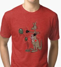 Kangaroo and Joey Boxing Tri-blend T-Shirt