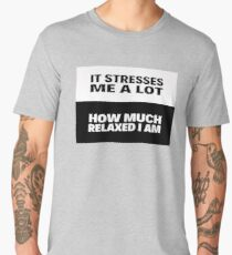 Simple black and white pattern with a funny quote Men's Premium T-Shirt