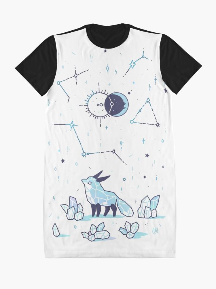Alternate view of Arctic Nights Graphic T-Shirt Dress