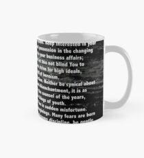 Desiderata Poem silver etched on Black Marble Classic Mug