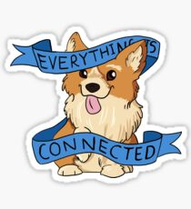 Everything is Connected Corgi Sticker
