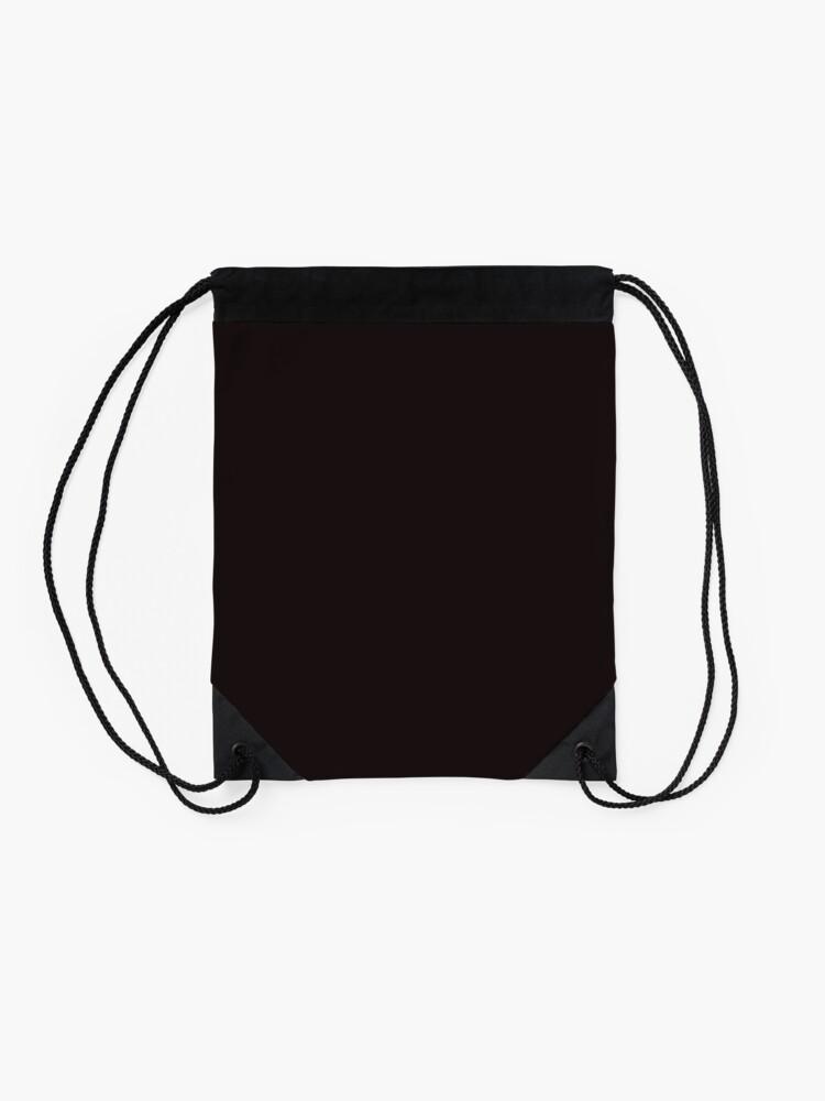 Alternate view of Vintage New England Shaker Village Milk Paint Dark Pitch Black Drawstring Bag