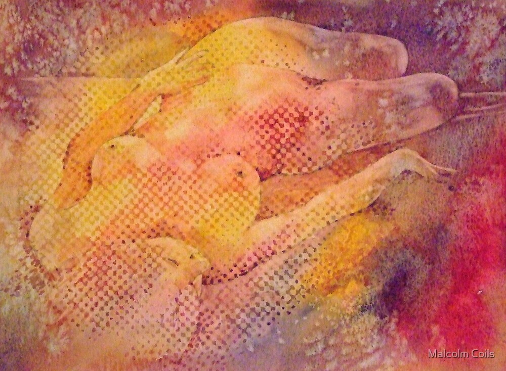 Reclining Nude by Malcolm Coils
