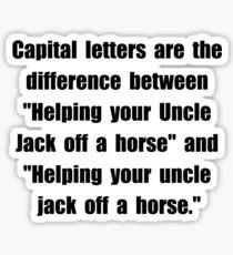 Capital Letters Jack Sticker