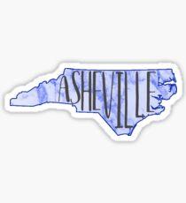 asheville marbled Sticker