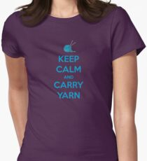 Keep Calm and Carry Yarn - Knitting Gifts T-Shirt