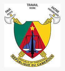 Cameroon Coat of Arms Photographic Print