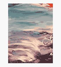 Abstract Sunset Beach Waves Photographic Print