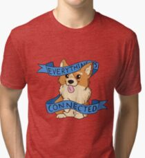 Everything is Connected Corgi Tri-blend T-Shirt
