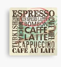 Coffee of the Day 2 Cream Canvas Print