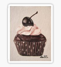Chocolate Cherry Cupcake Sticker