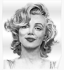 Marilyn Monroe from Hand Drawn Sketch Poster