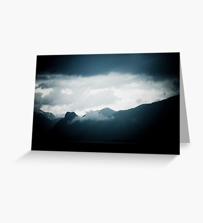 behind the clouds Greeting Card