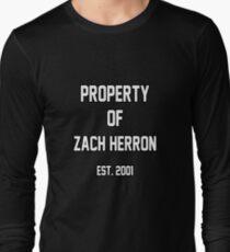 Property of Zach Herron Long Sleeve T-Shirt