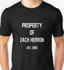 Property of Zach Herron Unisex T-Shirt
