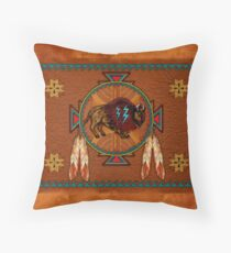 Buffalo Leather Throw Pillow