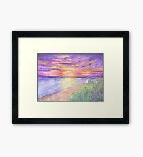 Flagler Beach Sunrise Framed Print